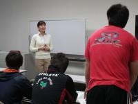 専修大学ラグビー部新人セミナーを開催しました。